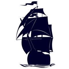 Contour military frigate