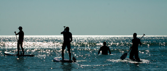 Stand up paddle group