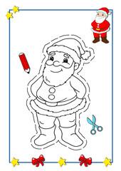 Natale da colorare, Babbo Natale