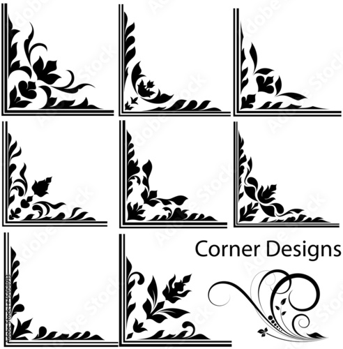 Corner Vector Designs Stock Image And Royalty Free Vector Files On