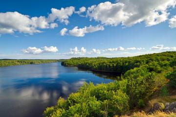 Idyllic Swedish lake in summer time