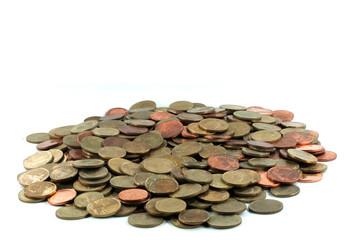 Heap of Thai bath coin