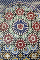 Traditional Moroccan mosaic