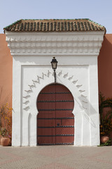 Moroccan gate in Marrakesh