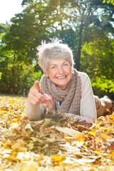 happy senior women
