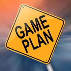 Game plan concept.