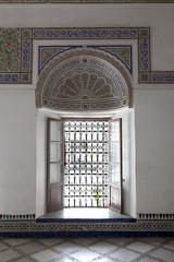 Window in Palais de la Bahia Marrakech Morocco