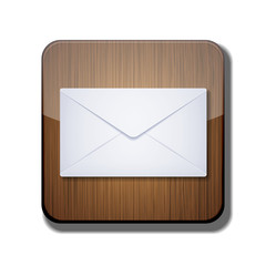 Vector mail app icon on white background. Eps 10