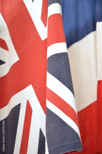 Drapeaux Anglais Et Français Stock Photo And Royalty Free