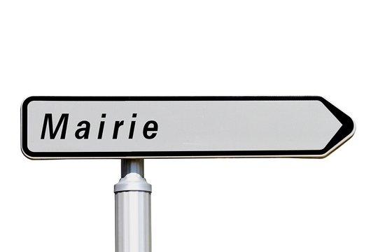 Panneau directionnel d'une mairie