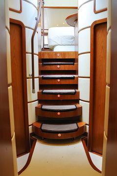 ladder of luxury yacht