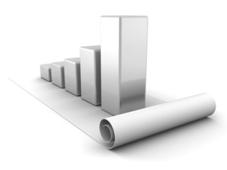 bussiness growing success graph on white background