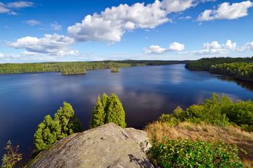 Idyllic Swedish lake in the summer time