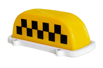 Yelow plastic taxi roof top signs