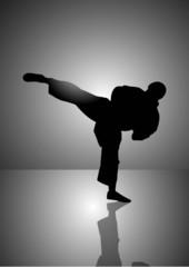 Karate man Silhouette
