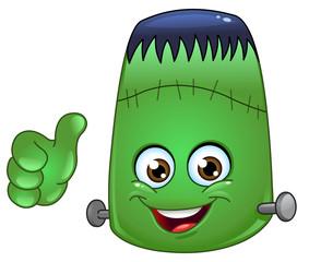 Poster de jardin Creatures Frankenstein emoticon