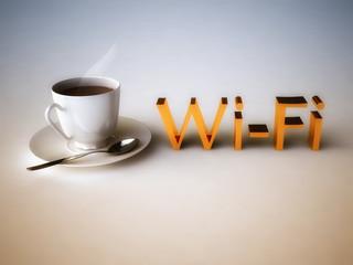Wi-Fi concept in 3D