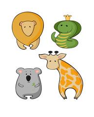 illustration of wild animals