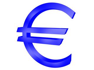 symbol euro. isolated on white.