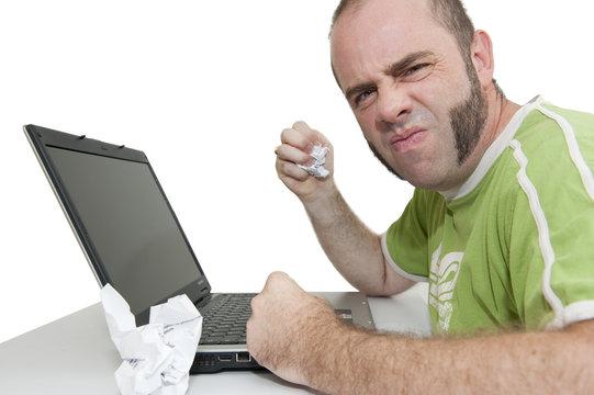 Colère devant l'ordinateur