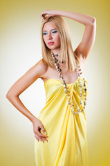 Young woman in fashion shoot