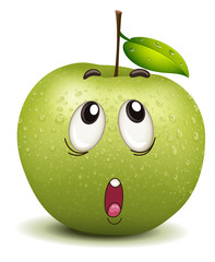 wondering apple smiley
