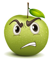 angry apple smiley
