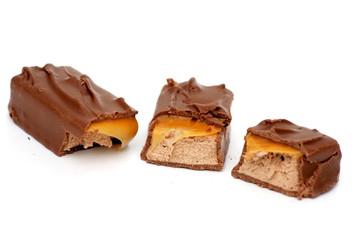 three Chocolate Pieces