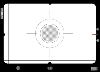 Classic SLR viewfinder, with free space for your pics, vector