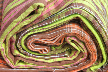 Texture on colorful cotton clothes
