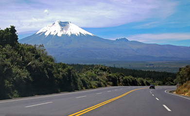 Highway to the Cotopaxi Volcano, The Andes, Ecuador