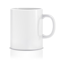 White Isolated Cup