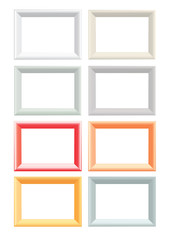 Set of color vector photo frames