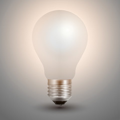 Light bulb illuminated