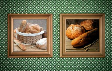 Bakery bread frames