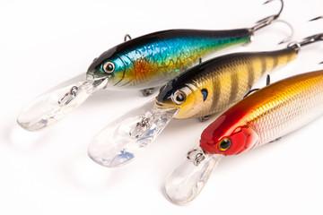 Printed roller blinds Fishing bait for fishing - wobbler on white