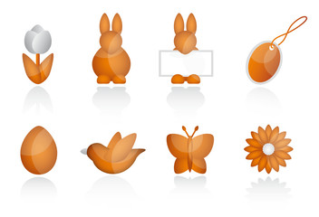 Icons Ostern Orange