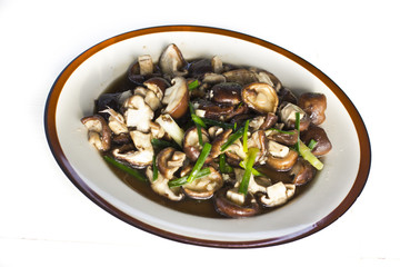 Stir fried shiitake mushroom with oyster sauce