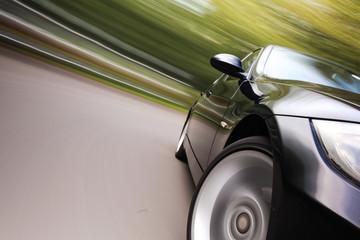 Sport car in Fast drive