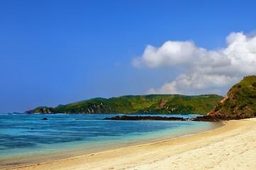 Tropical blue beach