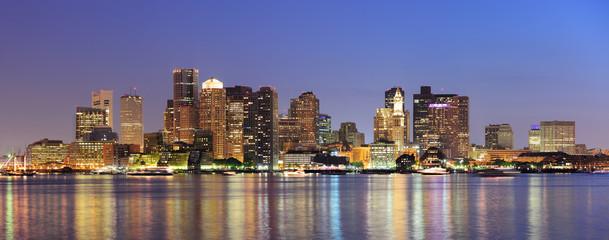 Fototapete - Boston downtown urban skyline