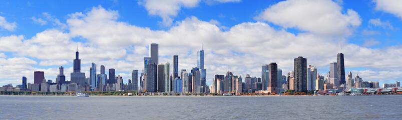 Wall Mural - Chicago city urban skyline panorama