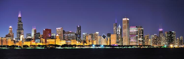 Chicago night panorama