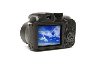 photocamera isolated on white background