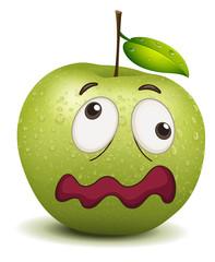 dull apple smiley