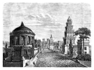 Antique Rome : a street - The Via Appia