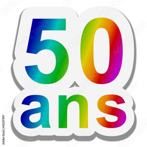 anniversaire multicolore 50 ans photo libre de droits sur la banque d 39 images. Black Bedroom Furniture Sets. Home Design Ideas