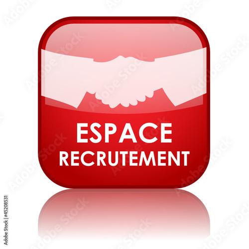 u0026quot bouton web espace recrutement  remploi embauche