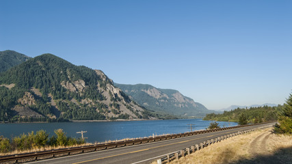 Washington Route 14 in Columbia River Gorge