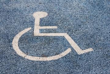 Símbolo de estacionamiento para discapacitados
